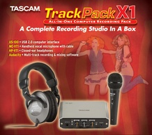 Tascam TRACKPKX1 Track Pack X1 Computer Recording Kit