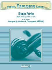 Rondo Presto (from String Quartet K. 157)