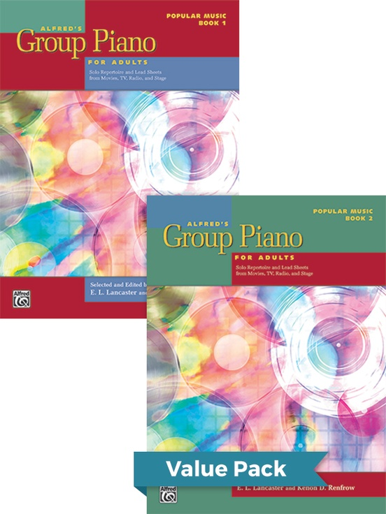 Alfred's Group Piano for Adults: Popular Music Books 1 & 2