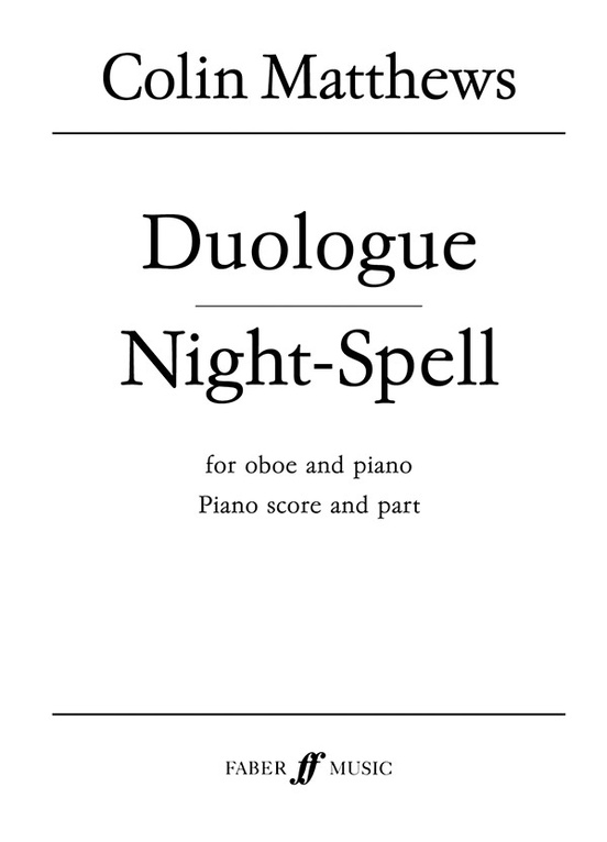 Duologue and Night-Spell