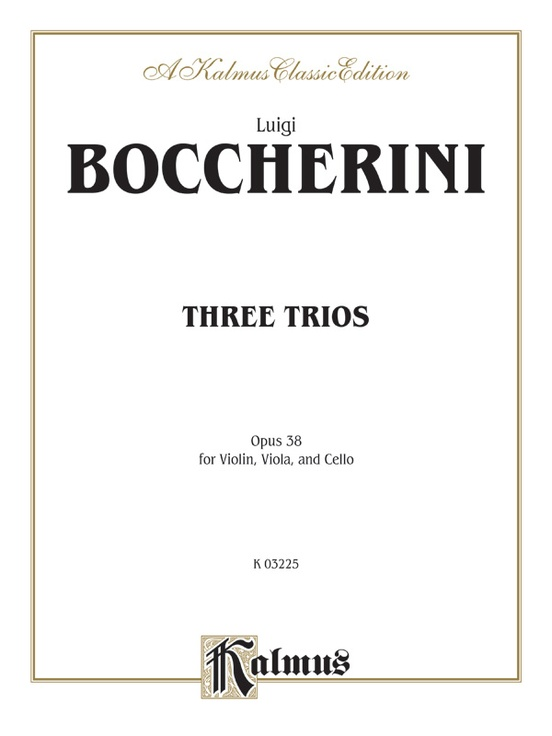 Three Trios, Opus 38