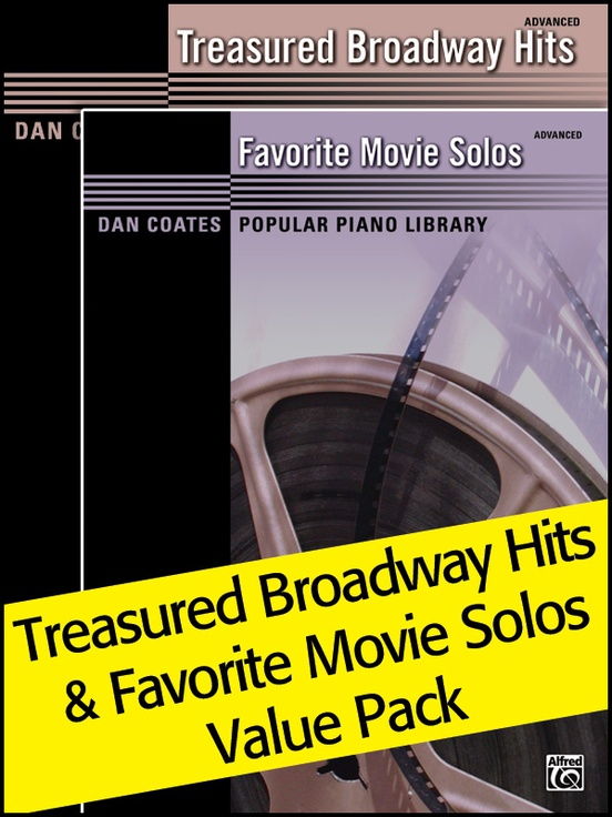 Dan Coates Popular Piano Library: Treasured Broadway Hits & Favorite Movie Solos (Value Pack)