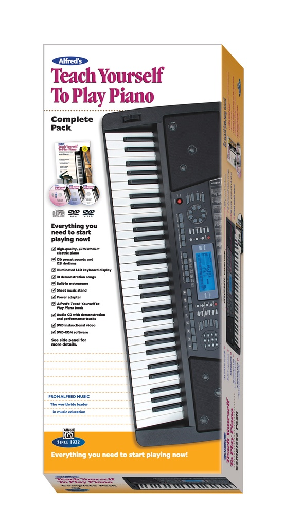 Alfred's Teach Yourself to Play Piano, Complete Pack