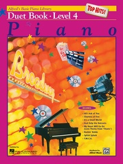 Alfred's Basic Piano Library: Top Hits! Duet Book 4