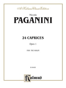 Twenty-four Caprices, Opus 1