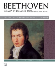 Beethoven, Sonata in D Major, Opus 6