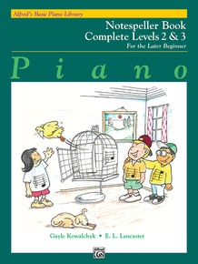 Alfred's Basic Piano Library: Notespeller Book Complete 2 & 3