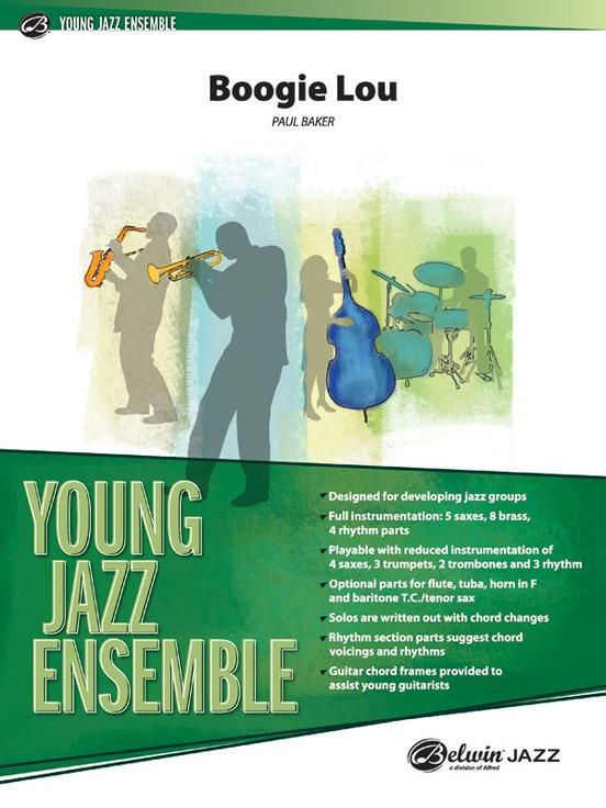 Boogie Lou Jazz Ensemble Conductor Score Parts Paul Baker
