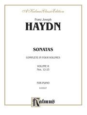 Sonatas, Volume II (Nos. 12-23)