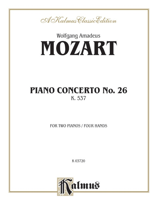 Piano Concerto No. 26 in D, K. 537