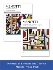 Menotti: Poemetti and Ricercare & Toccata (Value Pack)
