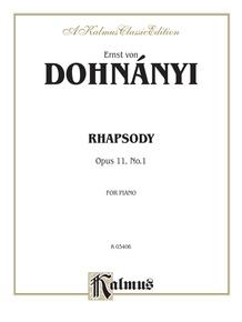 Rhapsody, Opus 11, No. 1