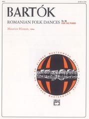Bartók, Romanian Folk Dances, Sz. 56 for the Piano