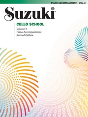 Suzuki Cello School Piano Acc., Volume 8 (Revised)