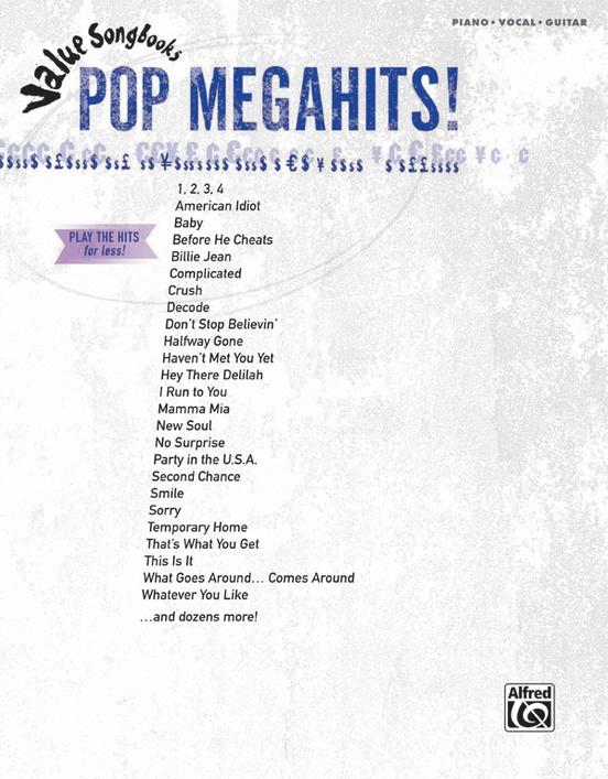 Value Songbooks: Pop Megahits!
