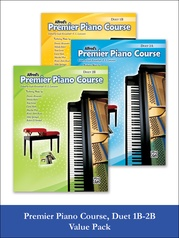 Premier Piano Course Duet 1B-2B (Value Pack)