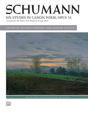 Schumann, Six Etudes in Canon Form, Opus 56
