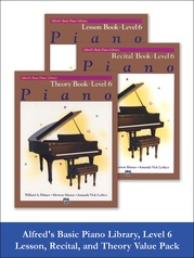 Alfred's Basic Piano Library Lesson, Theory, Recital 6 (Value Pack)