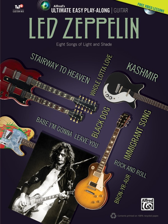 Ultimate Easy Guitar Play Along Led Zeppelin Easy Guitar Tab Book
