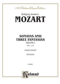 Sonatas and Three Fantasias, Volume I