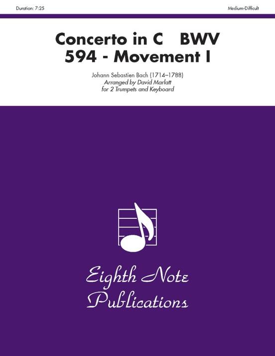 Concerto in C, BWV 594 (Movement I)