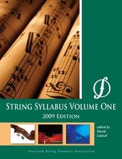String Syllabus Volume One (2009 Edition)