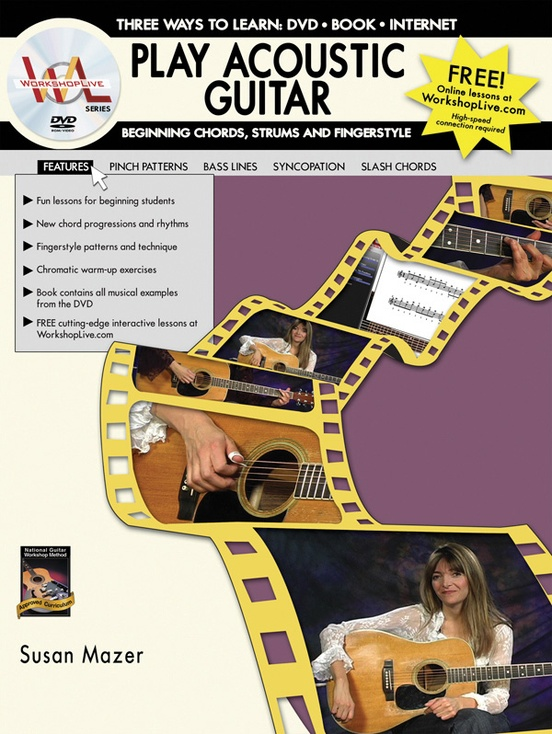 Play Acoustic Guitar: Beginning Chords, Strums, and Fingerstyle