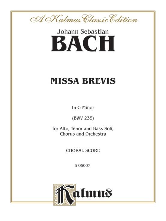 Missa Brevis in G Minor (BWV 235)