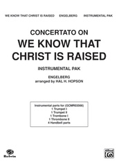 "Concertato on ""We Know That Christ Is Raised"""