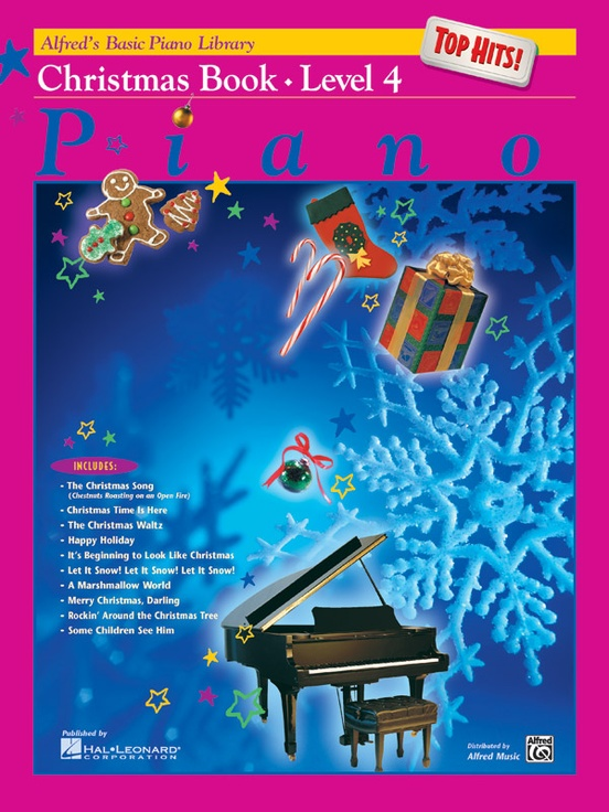 Alfred's Basic Piano Library: Top Hits! Christmas Book 4