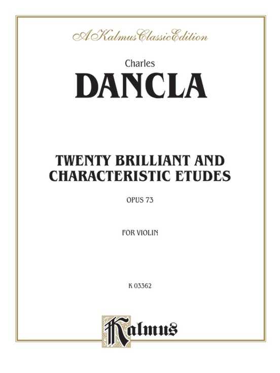 Twenty Brilliant and Characteristic Etudes, Opus 73