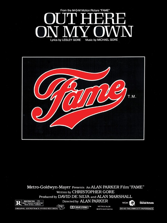 Out Here On My Own From Fame Pianovocalchords Sheet Michael Gore