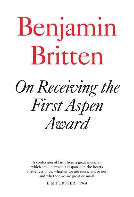 On Receiving the Aspen Award