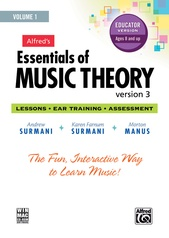 Alfred's Essentials of Music Theory: Software, Version 3 CD-ROM Educator Version, Volume 1