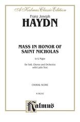 Mass in Honor of Saint Nicholas, in G Major