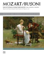 Mozart/Busoni: Duettino concertante