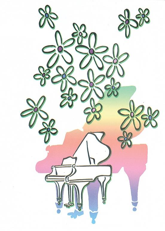 Schaum Recital Programs (Blank) #69: Flowers and Piano