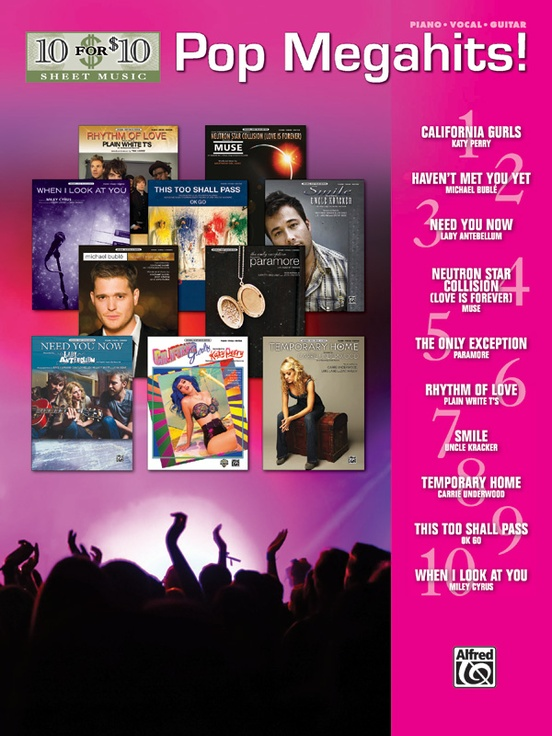 10 for 10 Sheet Music: Pop Megahits!