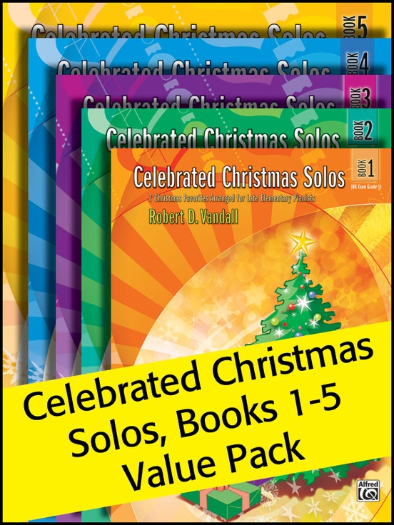 Celebrated Christmas Solos 1-5 (Value Pack)