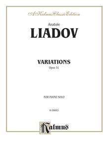 Variations sur un theme populaire Polonais, Opus 51