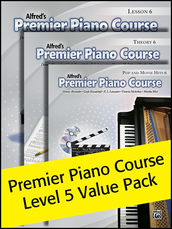 Premier Piano Course, Lesson, Theory & Pop Hits 6 (Value Pack 2012)