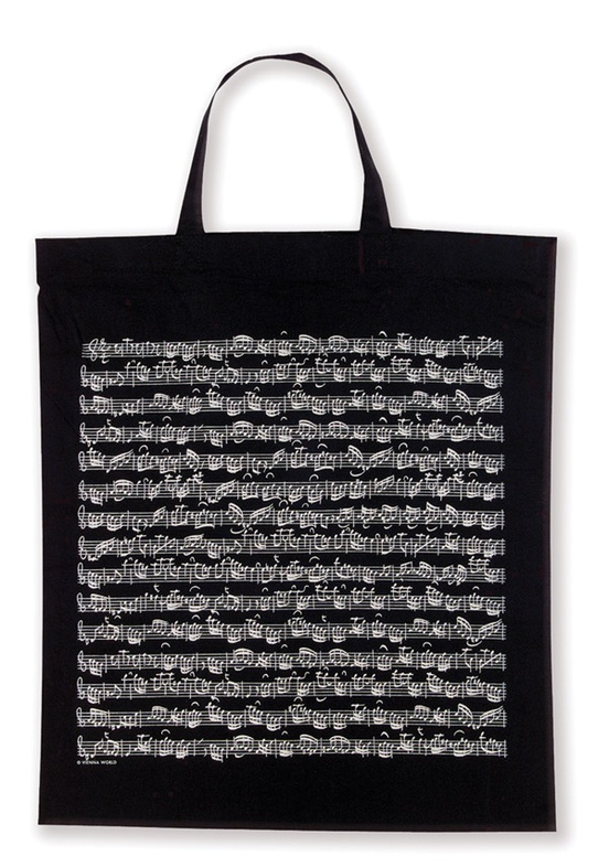 Tote Bag: Sheet Music (Black)