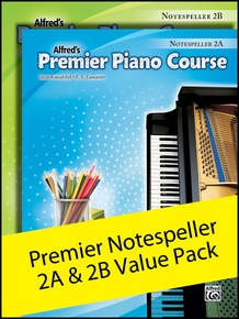 Premier Piano Course, Notespeller 2A & 2B (Value Pack)