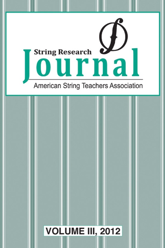 String Research Journal: Volume III, 2012