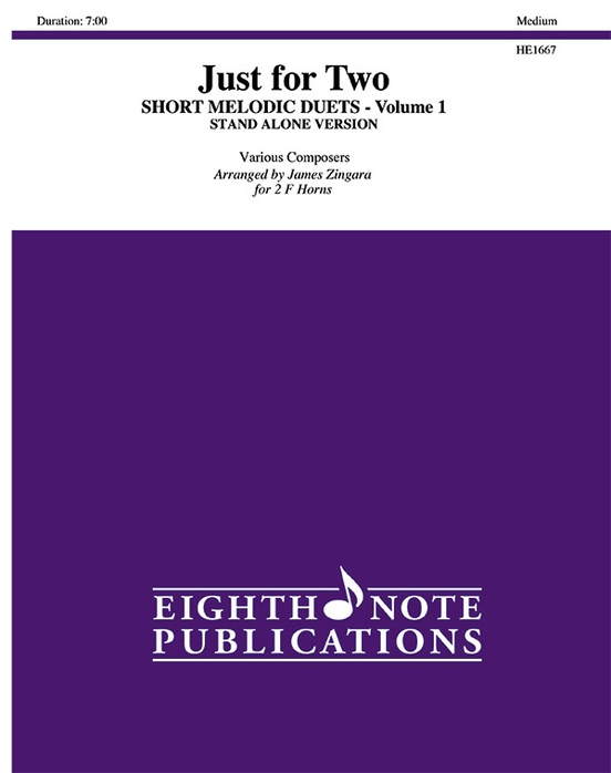 Just for Two: Short Melodic Duets, Volume 1 (stand alone version)