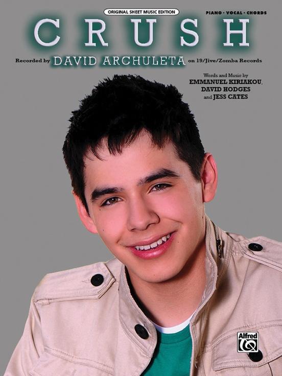 Crush Pianovocalchords Sheet David Archuleta