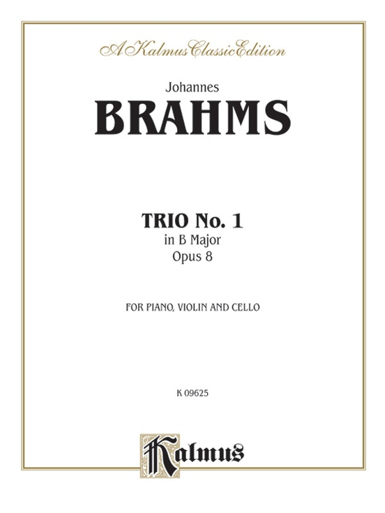 Piano Trio No. 1 in B Major, Opus 8