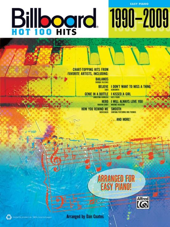 Billboard Hot 100 Hits 1990 2009 Piano Book