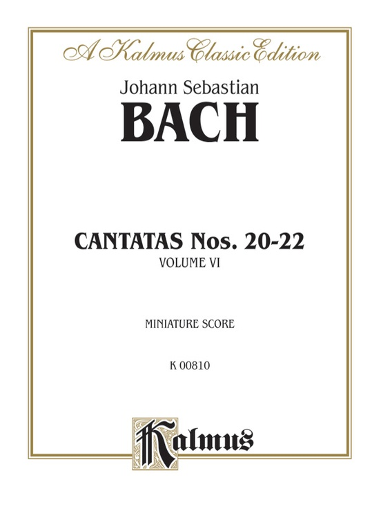 Cantatas No. 20-22, Volume VI