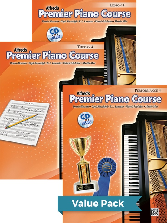 Premier Piano Course, Lesson, Theory & Performance 4 2012 (Value Pack)